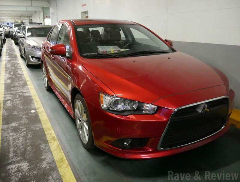 Mitsubishi Lancer on ferry