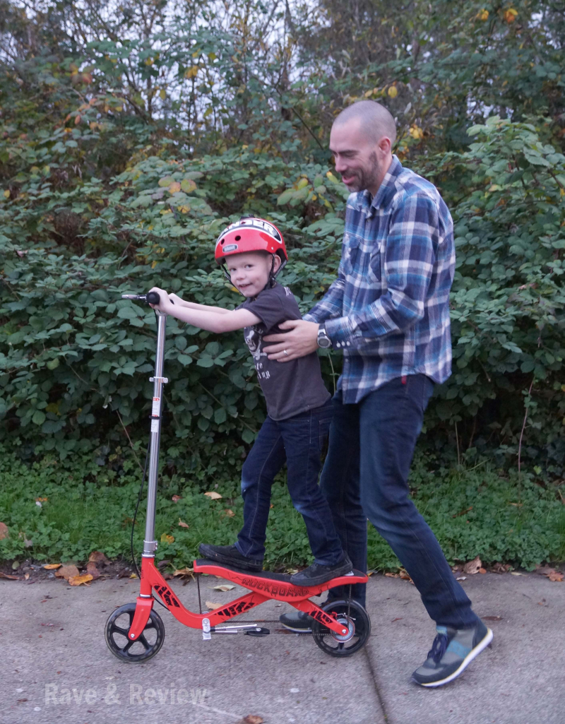 Rockboard scooter with daddy