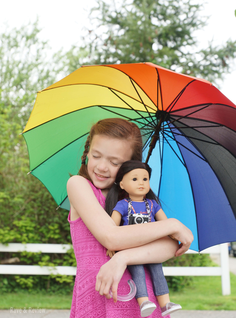 American Girl Z with umbrella 2