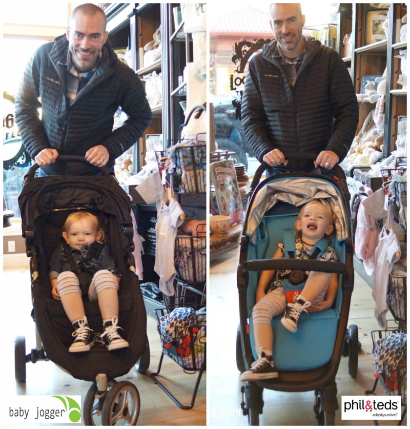 Baby Jogger and Phil and Teds in small spaces