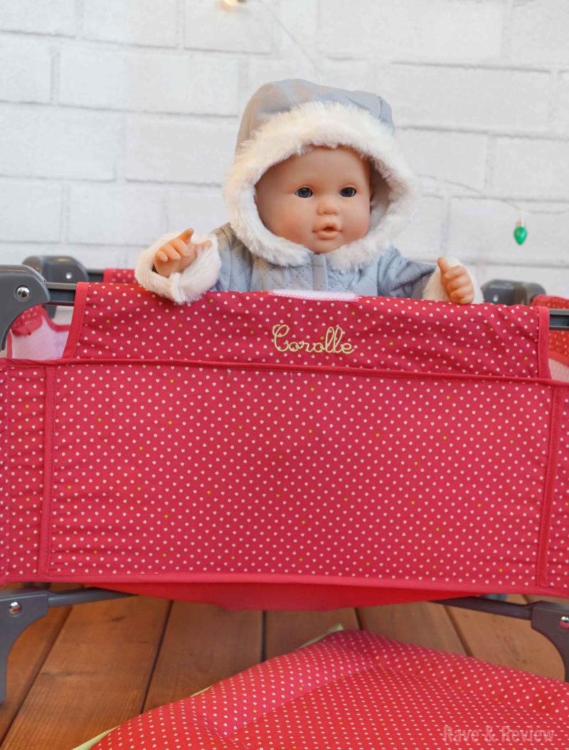 Corolle baby in crib