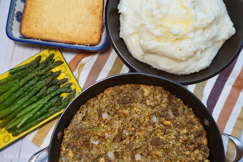 Cornbread stuffing with sausage meal