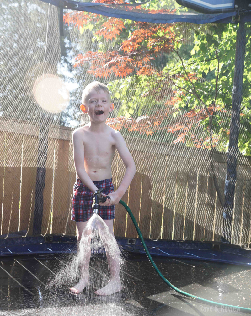 Trampoline water play