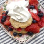 Strawberry and blueberry shortcake