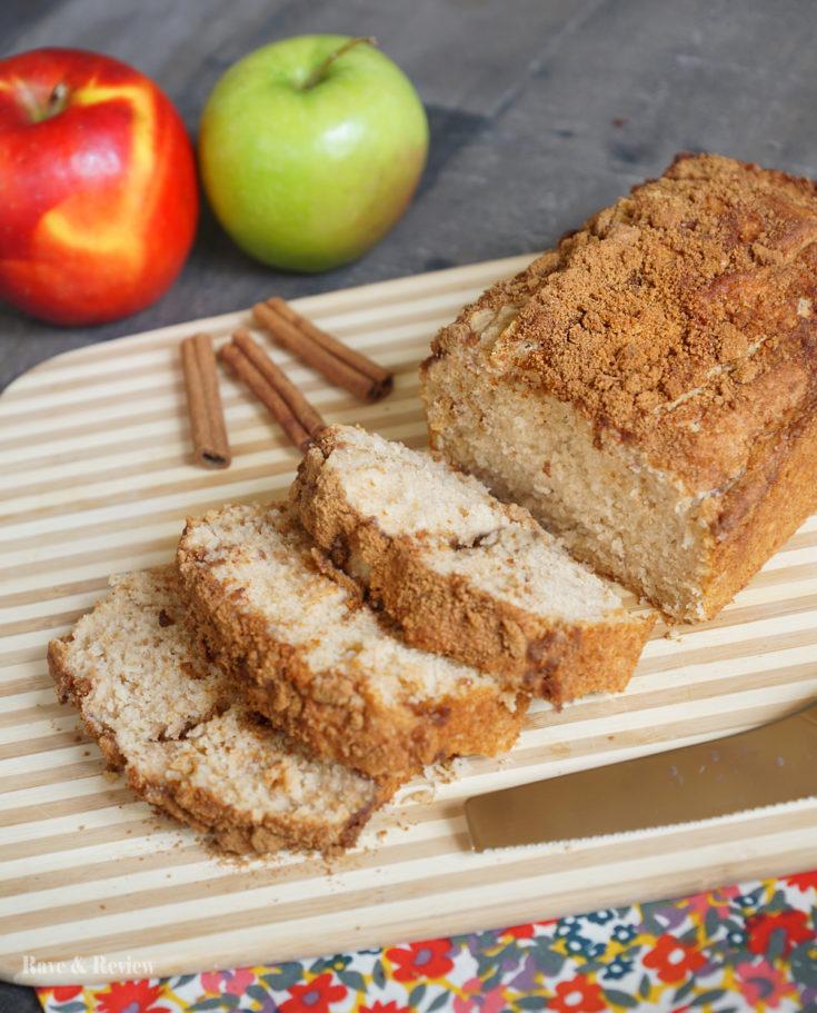 Cinnamon applesauce bread with self-rising flour