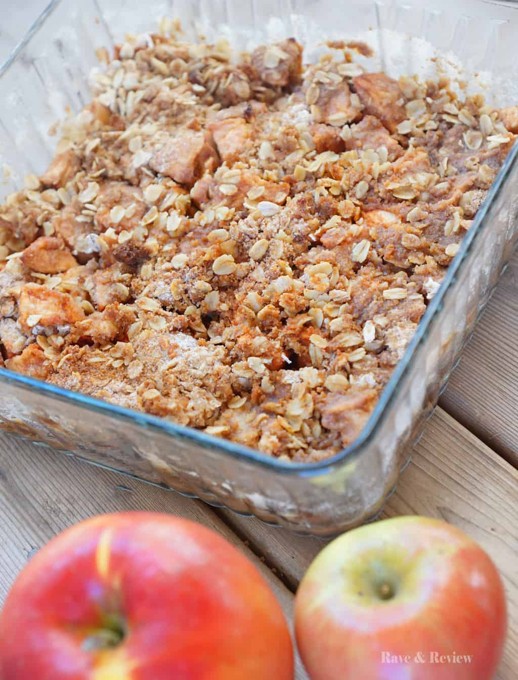 Apple Crisp with self rising flour baked