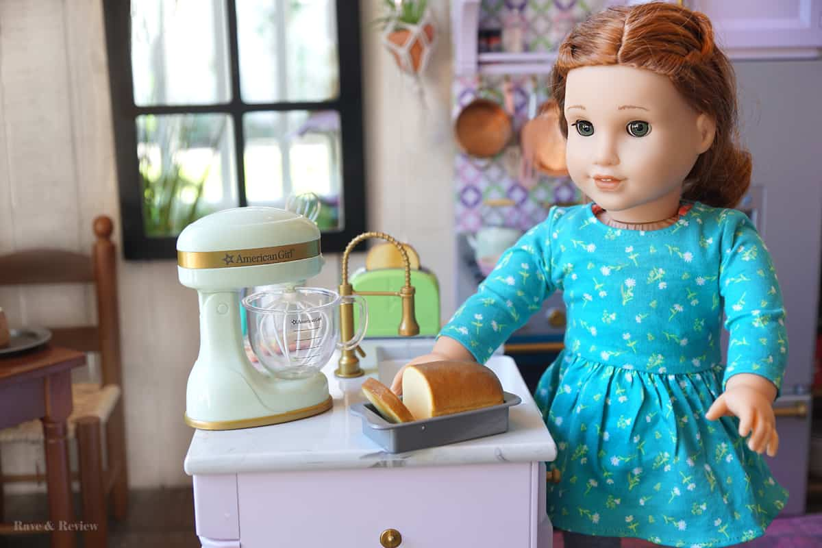 American Girl Blaire in kitchen
