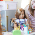 American Girl Kitchen with child 2