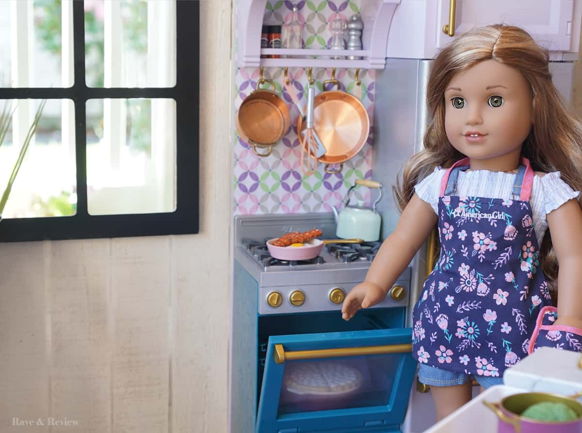 American Girl kitchen with window